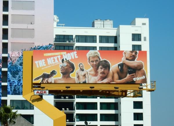 Grindr gay hookup app next move billboard