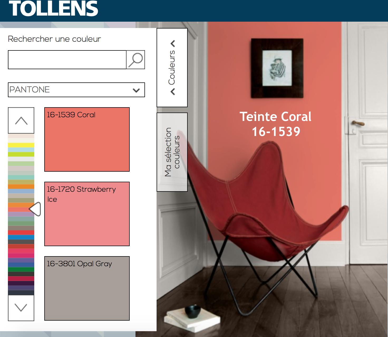 Ou Trouver La Peinture Tollens natacha fait sa déco !: couleur corail dans la déco, on ose ?