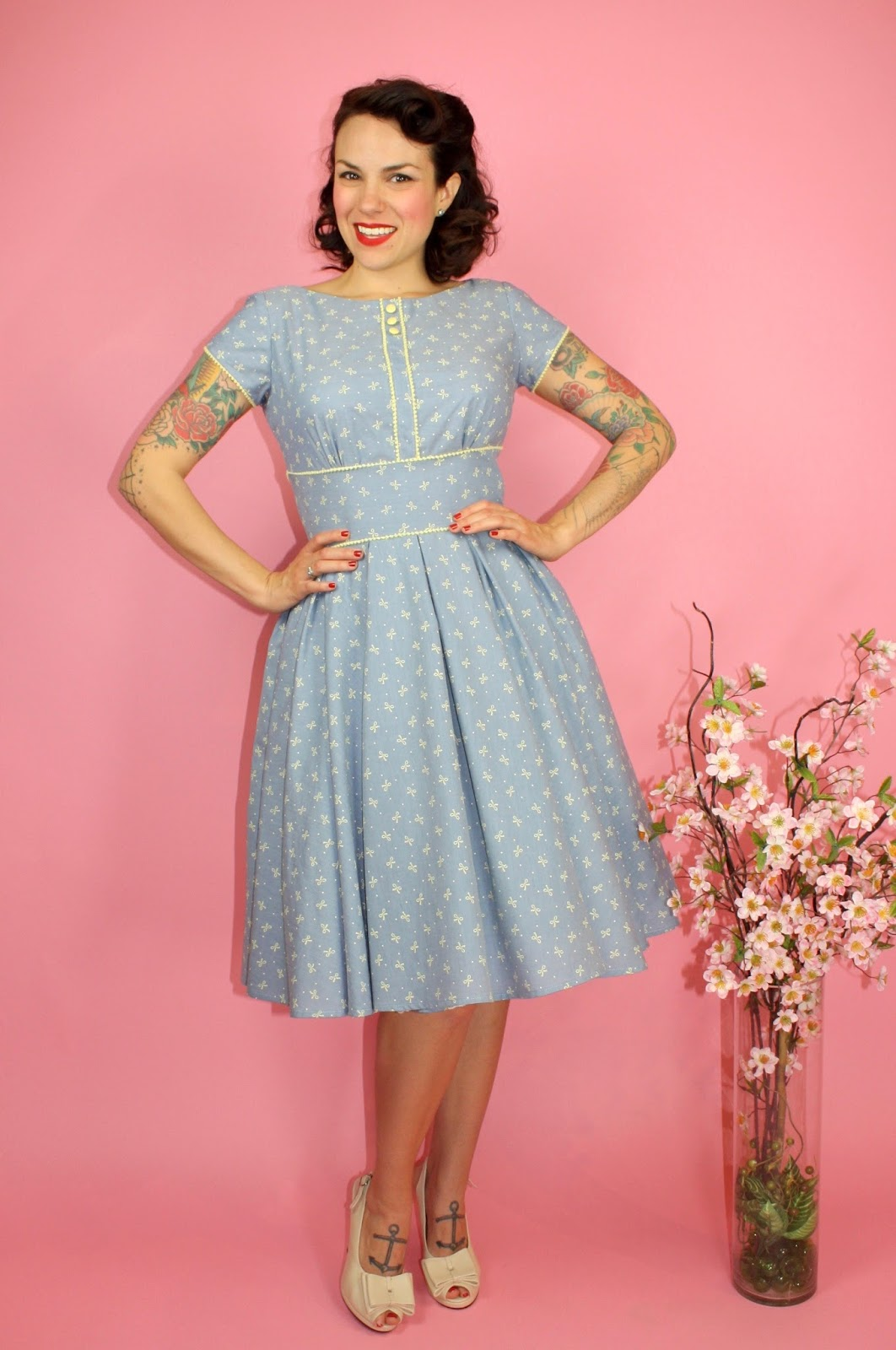 Gertie\'s New Blog for Better Sewing: Chambray Bow Day Dress