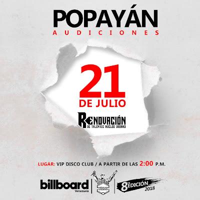 Audiciones Popayán - Renovación de talentos Núcleo Urbano.
