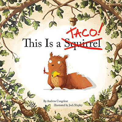 This Is a Taco! is a clever and humorous book. The pages include nonfiction style facts about squirrels with Taco the squirrel demonstrating those facts, but not always in the way you'd expect. As the facts continue, and the lack of tacos and threat of predators becomes more real, Taco the squirrel takes action, and changes the facts with a red pen to better suit his needs.  #ThisIsATaco #ChildrensBook #PictureBook #LionForge #NetGalley