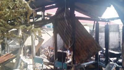 Kantor Redaksi Tabloid ZAMAN Terbakar,  Kerugian Ratusan Juta Rupiah