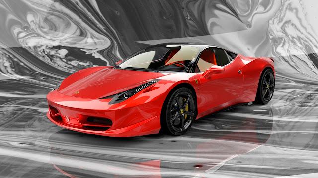 Ferrari 458 Italia High Poly Realistic 3D Model