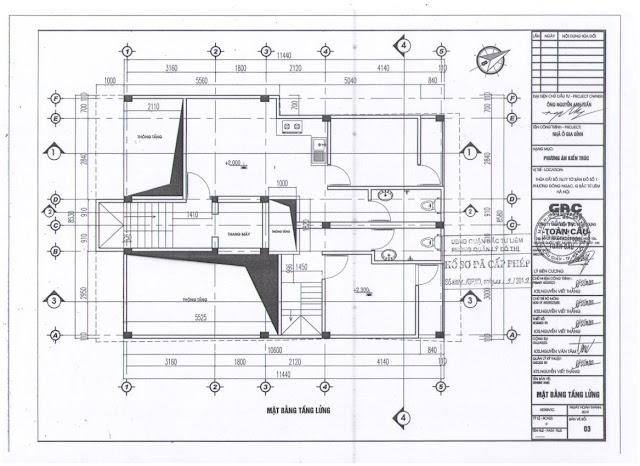 Thiết kế tầng lửng chung cư mini Minh Đại Lộc 2B