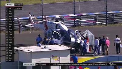 Geger Otak! Lorenzo Dilarikan ke Rumah Sakit dengan Helikopter