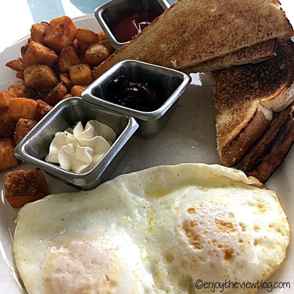 Eggs over easy at Sunset Bay Cafe in the Sandestin resort.