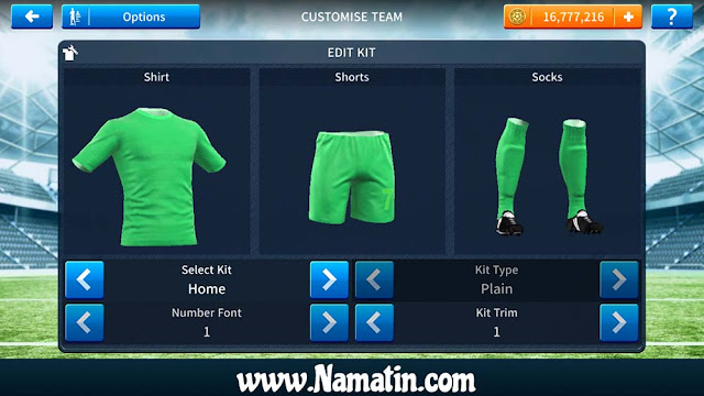 Baju Dream League Soccer Polos Terbaru