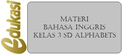 Materi Bahasa Inggris Kelas 3 SD Alphabets