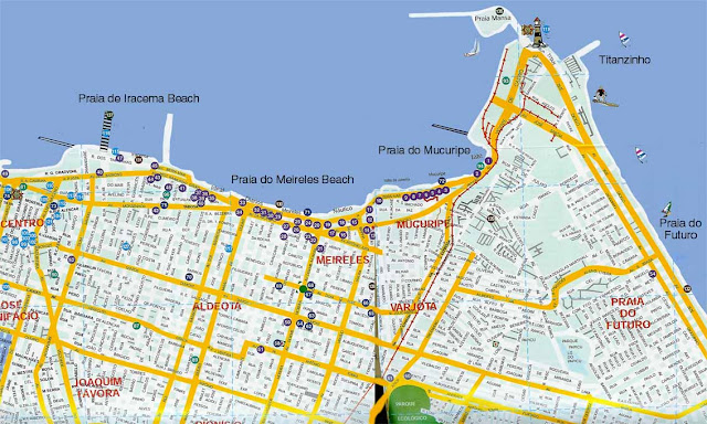 Fortaleza map