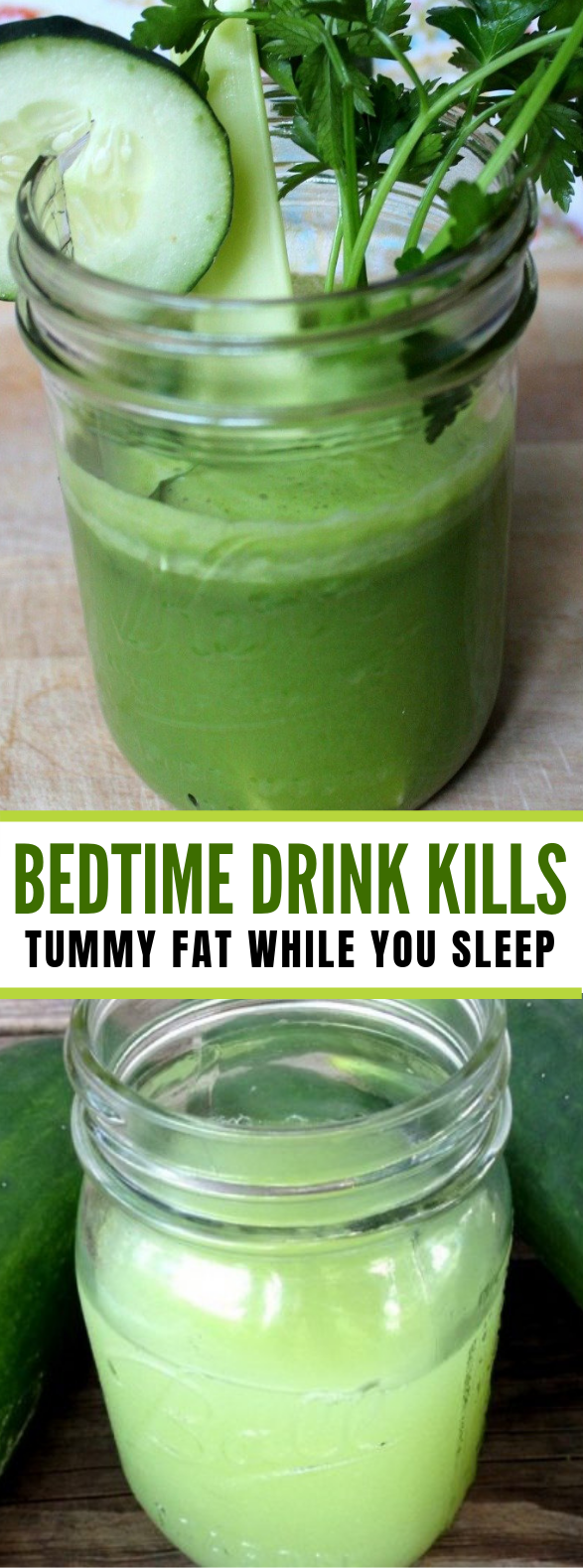 This 1 Simple Bedtime Drink Kills [Tummy Fat] While You Sleep #drinks #healthy
