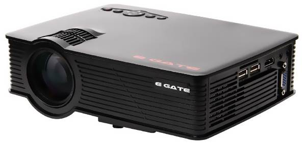 Egate i9 LED HD Projector (Black Colour)