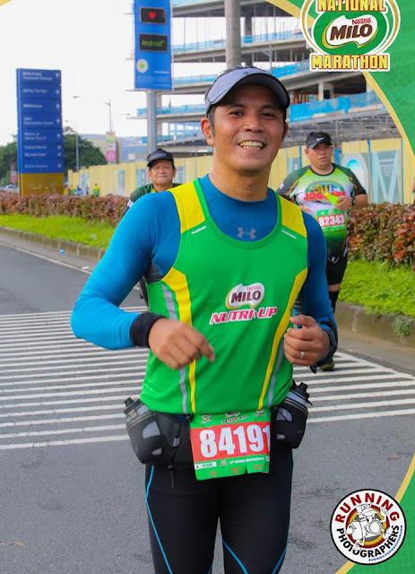 Jeffrey Aspacio at the 42nd MILO Marathon