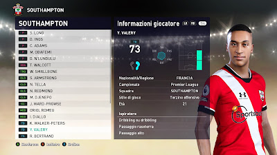 PES 2021 Faces Yann Valery