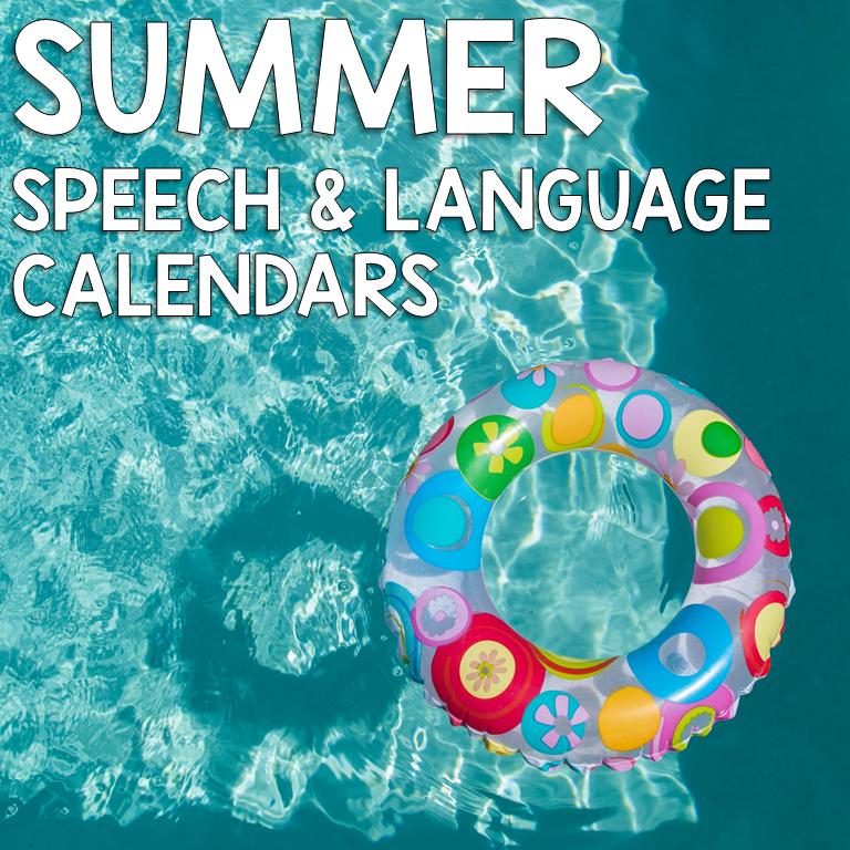 Summer Speech and Language Calendars target both articulation and language skills. Great speech and language homework!