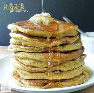Buttermilk Pumpkin Pancakes Recipe | by Life Tastes Good