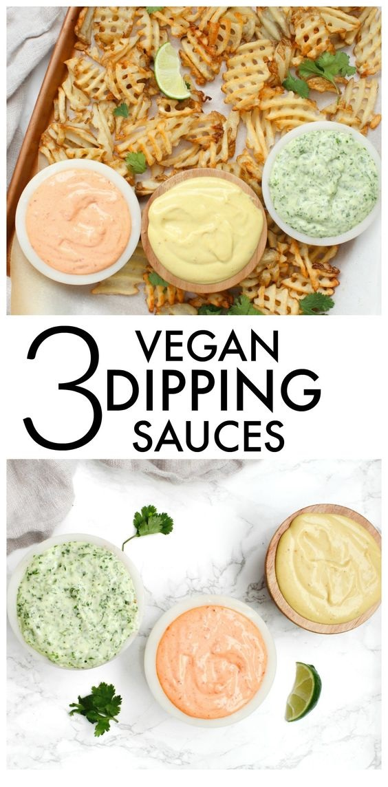 3 Vegan Dipping Sauces