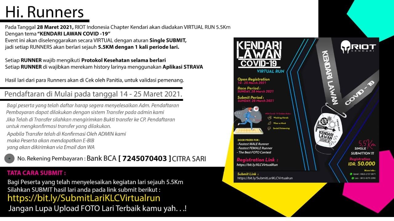 Kendari Lawan Covid Virtual Run • 2021