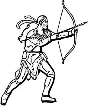 bows and arrows coloring pages - photo#18