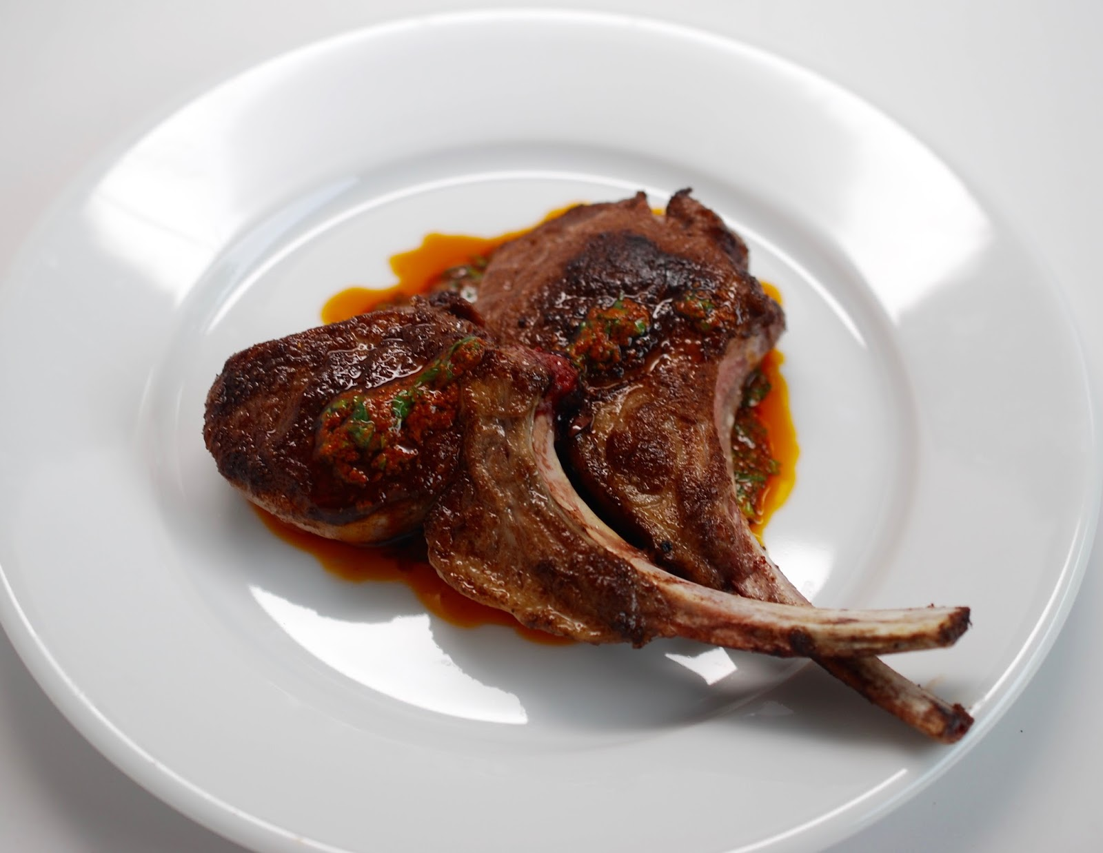 Cooking with Larue: Moroccan-Spiced Lamb Chops with Charmoula