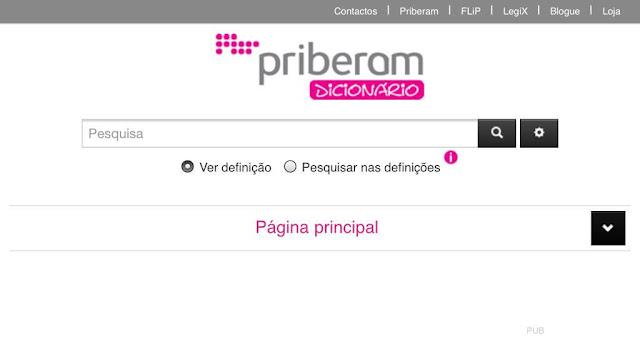 Dicionário Priberam de Português