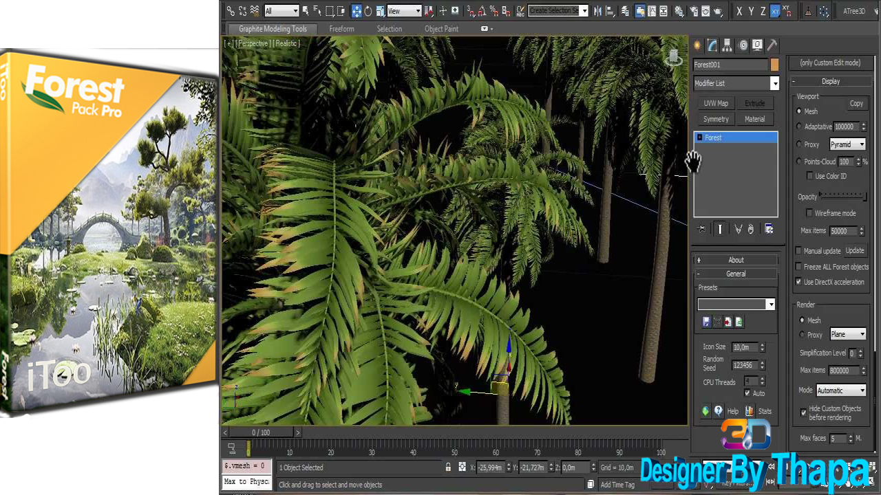 Itoo Forest Pack Pro for 3ds Max Free || 3ds Max 2018 And