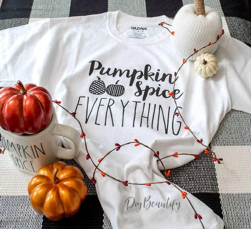 fall tee shirt pumpkin spice