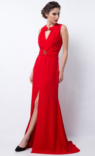 Lança Perfume coleção Alto Verão 2017 vestido longo para festa vermelho