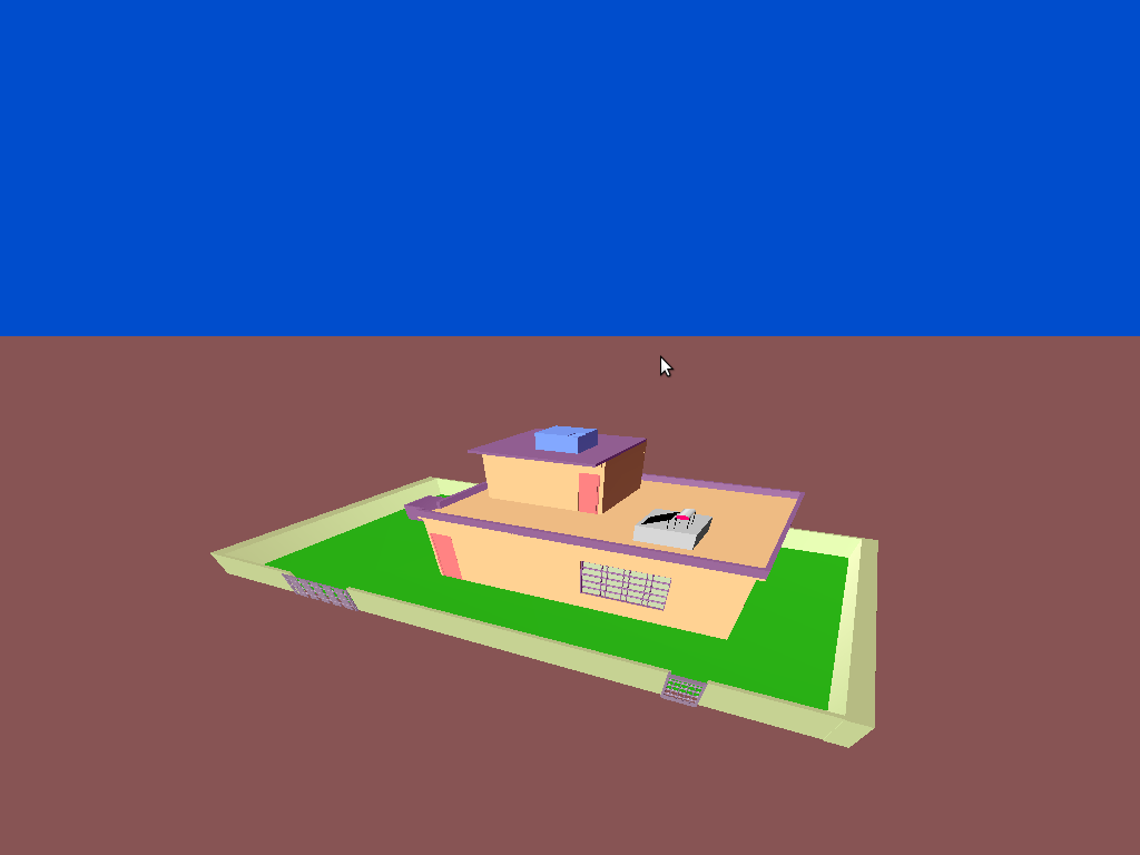 Graphics and Game Programming in OpenGL: 3D House Scene - An Animation