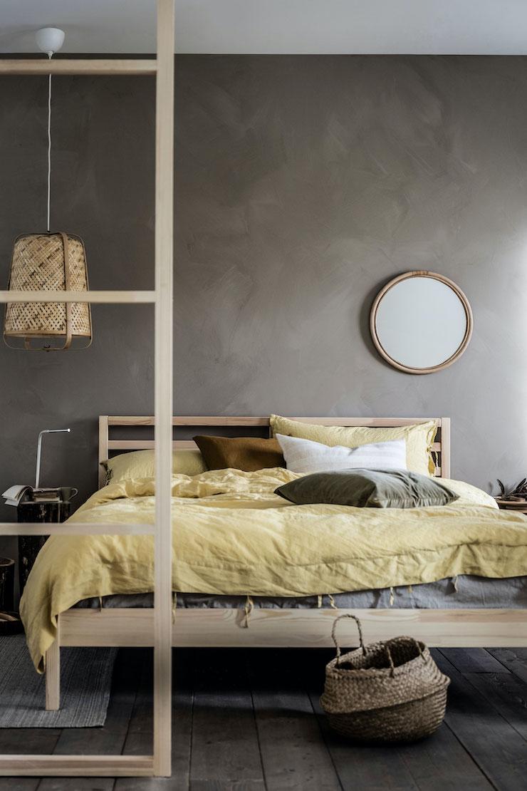 Dormitorio IKEA con muebles más sostenibles.