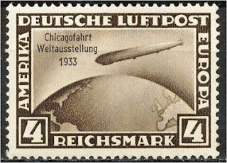 Germany Polar flight Zeppelin stamp 1 Mark