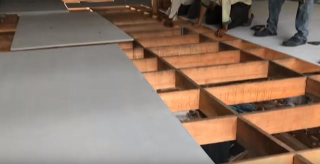 tấm xi măng cemboard lót sàn nhà nuôi chim yến