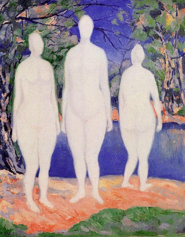 Banhistas Femininas - Kasimir Malevich e suas pinturas com elementos geométricos abstratos