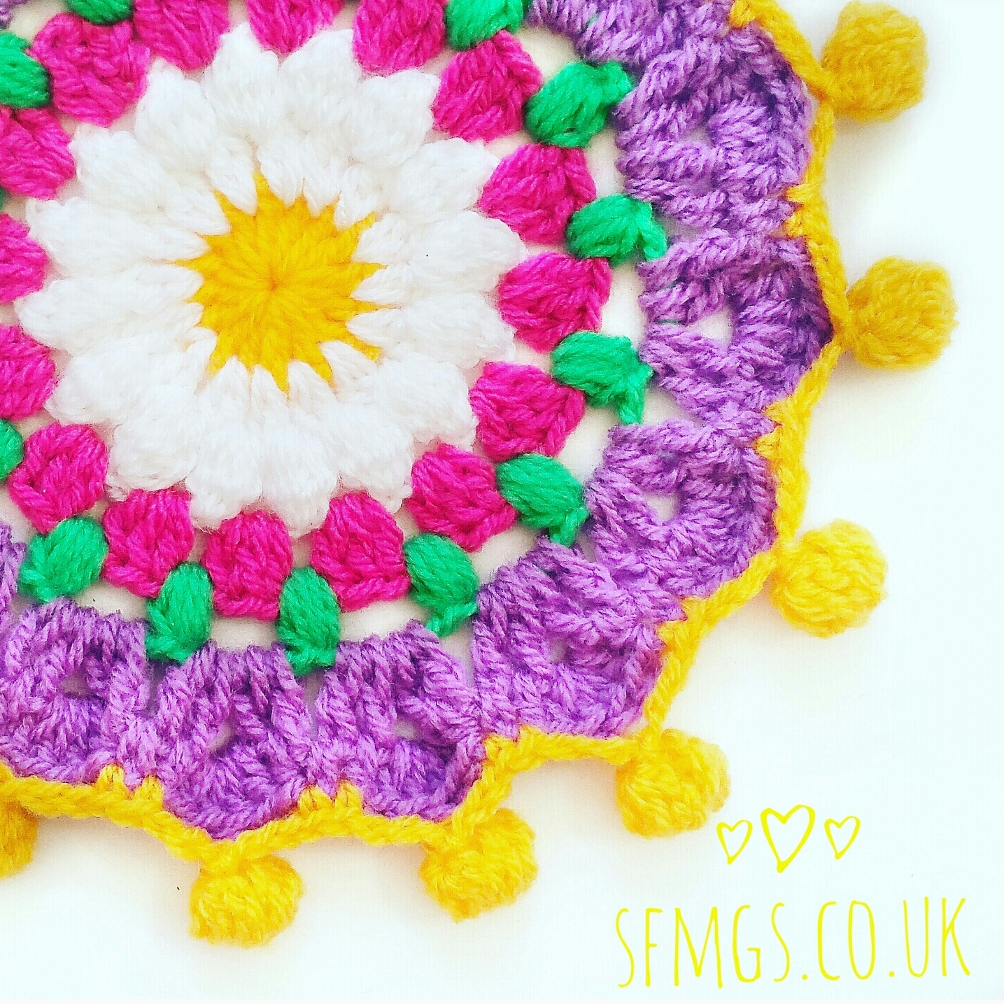 free crochet pattern tutorial mandala