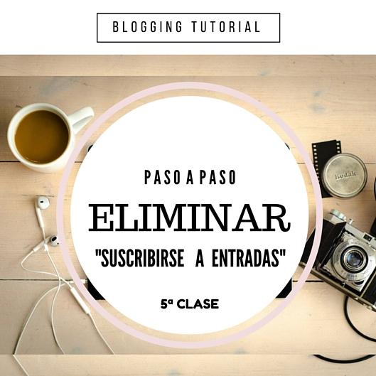 Como eliminar Suscribirse a entradas (Atom) en Blogger