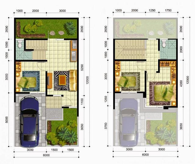 Desain Rumah Minimalis 2 Lantai 6 X 12 Gambar Foto Desain Rumah