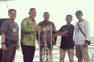 Poktan Tunas Harapan Gadingrejo Juarai Lomba Balap Traktor Piala Bupati Pringsewu 2019