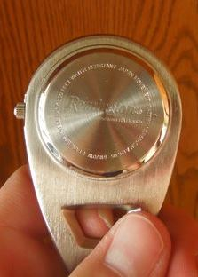 7401ea168 Remington (America's oldest gun maker) Folding Pocket Watch Leather case.  Stainless Steel 100 Ft Water Resistant Japan Movement