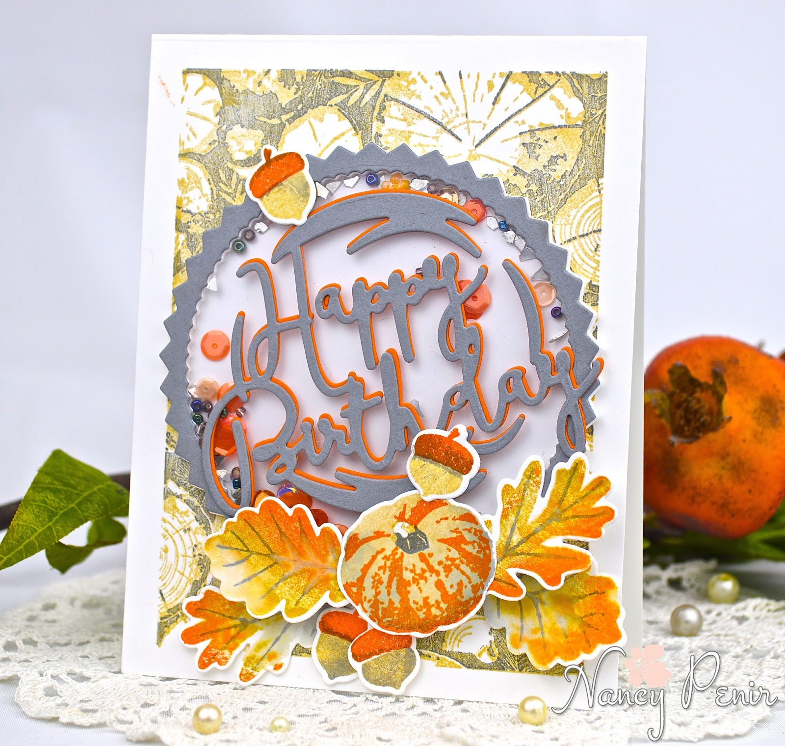 Artful Notions Autumn Birthday Card