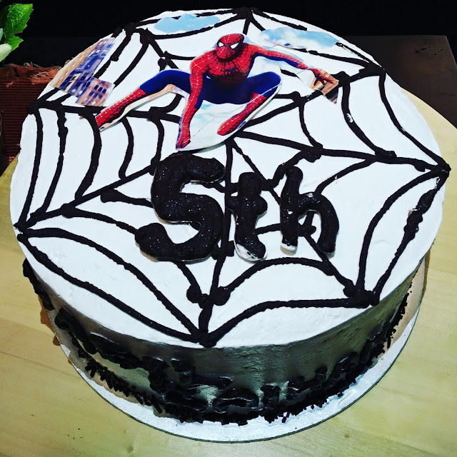 BIRTHDAY KEK SPIDERMAN