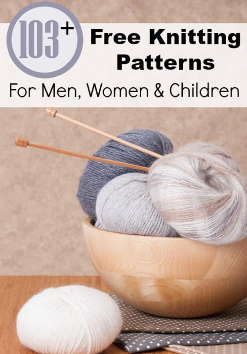 103 Free Knitting Patterns for Men, Women, and Children