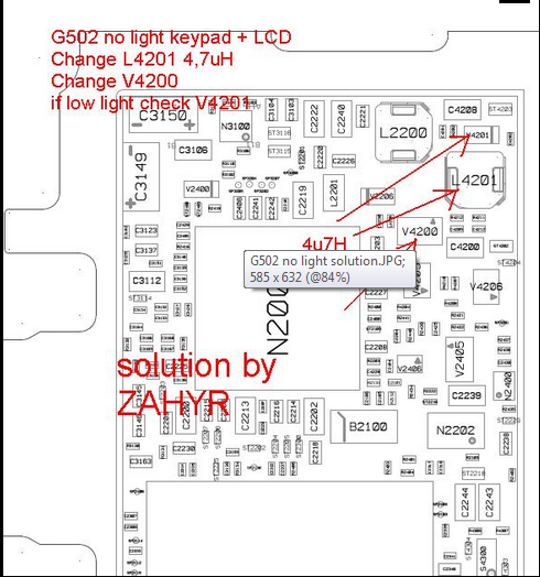 Sonyericsson G502 Lcd Light Problem Solution - GSMHosters