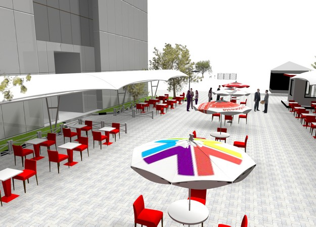 Desain Cafe Branding Perusahaan Tipe Outdoor - Furniture Interior Semarang