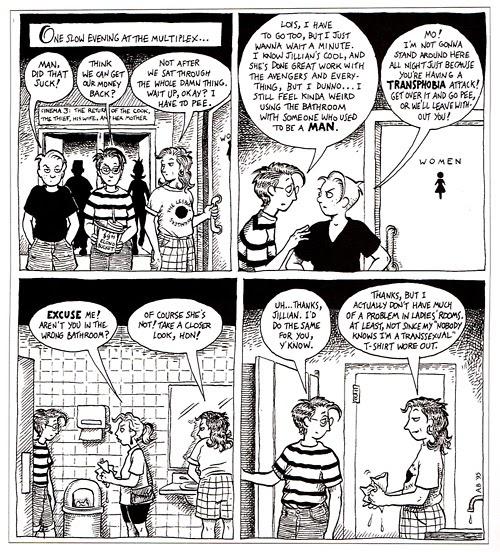 TransGriot Bathroom Issue Themed Trans Cartoon
