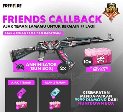 call back free fire