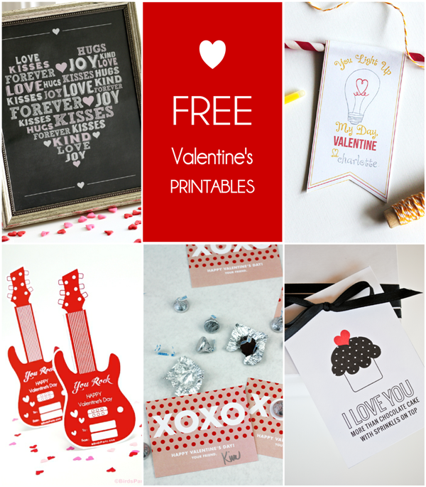 Round up of Free Valentine's Day Party Printables - via BirdsParty.com