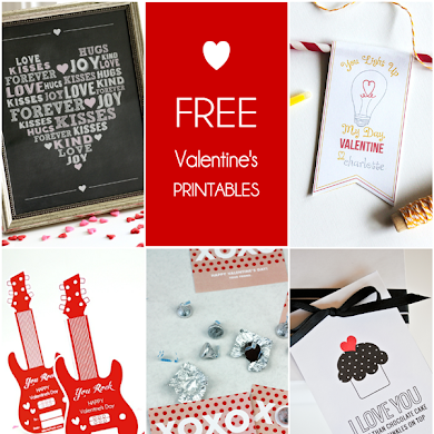 Round up of Free Valentine's Day Party Printables
