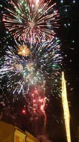 festival kembang api tahun baru imlek