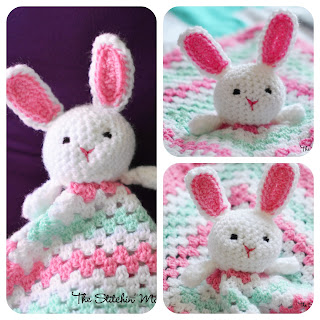 Crochet Bunny Lovey Pattern by The Stitchin' Mommy www.thestitchinmommy.com