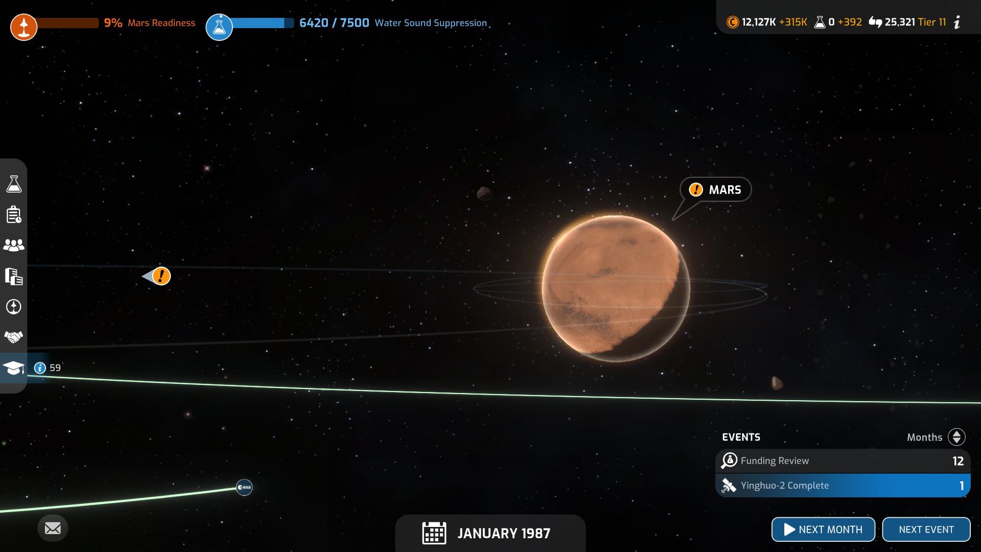 Mars Horizon Solar System Mars
