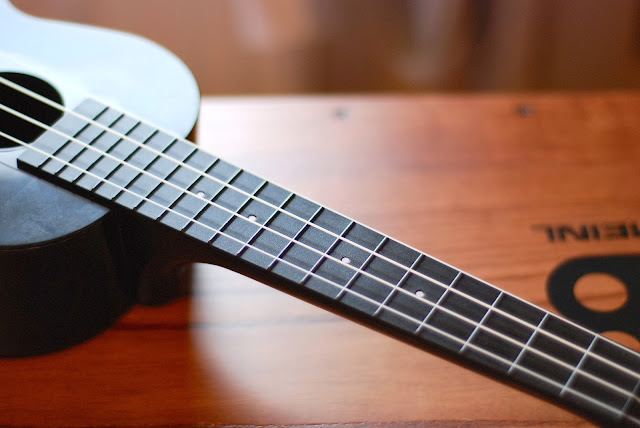 Korala Explore Concert Ukulele fingerboard
